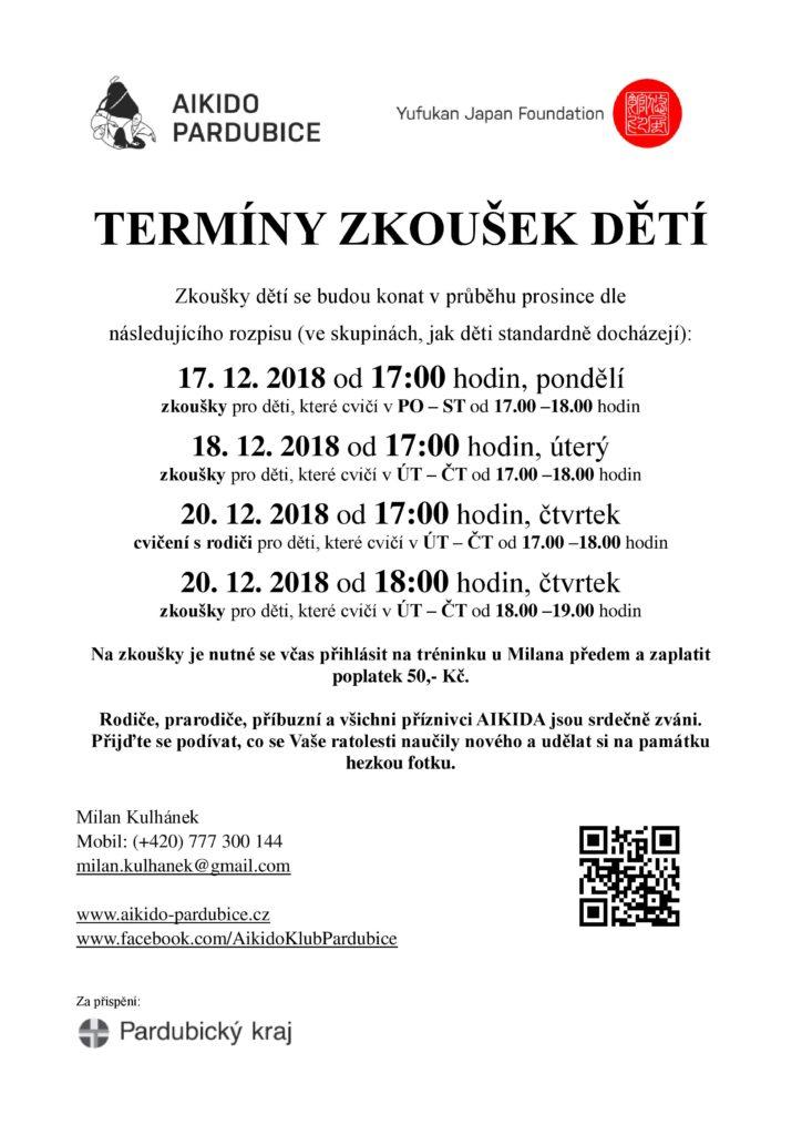 Oznameni - deti zkousky 2018-12