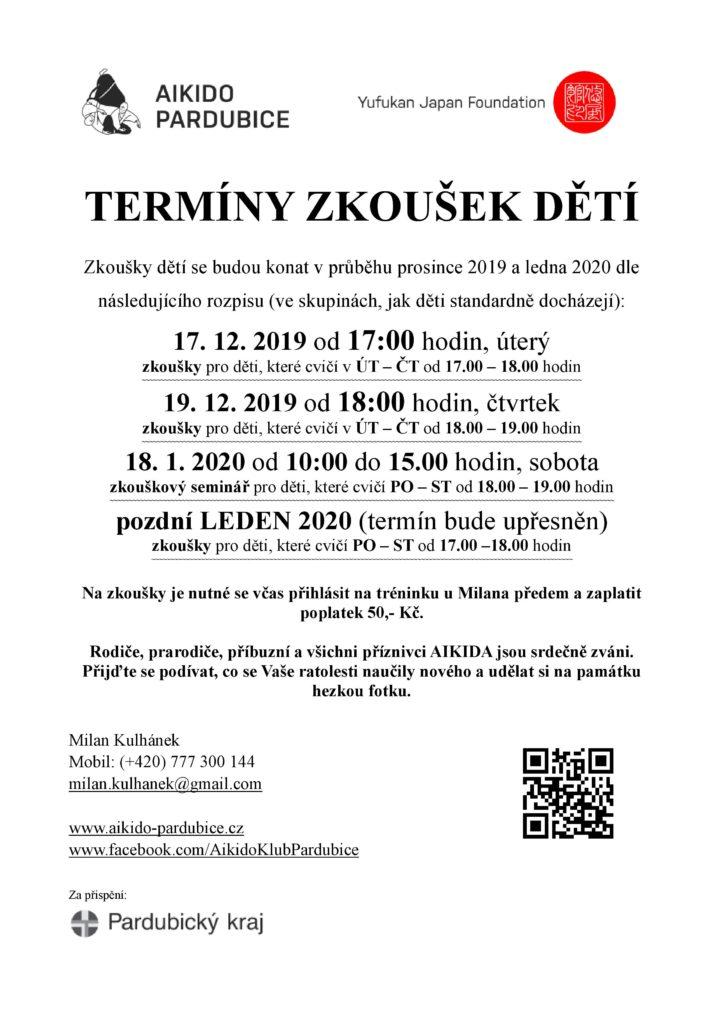 Oznameni - deti zkousky 2019-12
